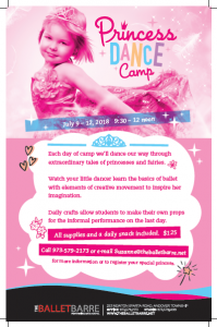 Princess Dance Camp July 9-12, 2018